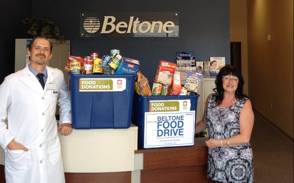Beltone Food Drive Helps Feed The Hungry -- Which Includes