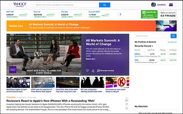 Yahoo Finance Adds To Live Video Team, Expands Offerings 09