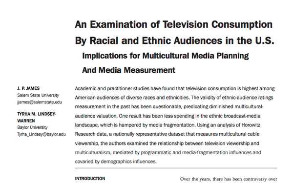 The Perception And Reality Of Multicultural TV Ad Bias