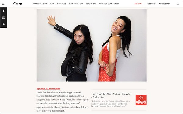 Allure' Launches Podcast That Delves Into Beauty, Identity 12/10/2018