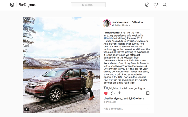 Instagram, Influencers Take Center Stage In Acura, Honda Efforts