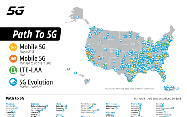 Not Quite But Close At T Starts 5g Evolution In 385 Markets 12