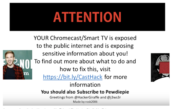 Hackers Take Over Google Chromecasts To Promote YouTube
