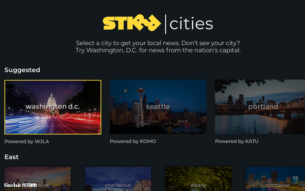 Sinclair Launches STIRR Streaming Service, Pushes Local Content