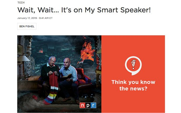 NPR's 'Wait, Wait    Don't Tell Me!' Podcast Launches Smart