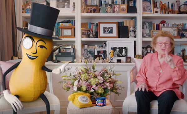 Dr. Ruth Helps Planters' Mr. Peanut Dispense V-Day Advice