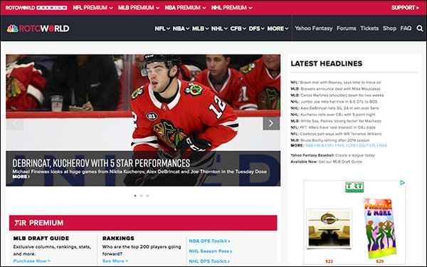 NBC's Rotoworld Launches Mobile-Optimized Site, Emphasizes Sports Video