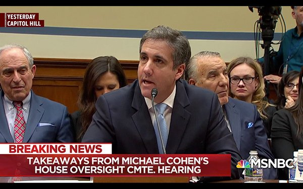 MSNBC Earns Strongest Cable Ratings From Cohen Testimony 03
