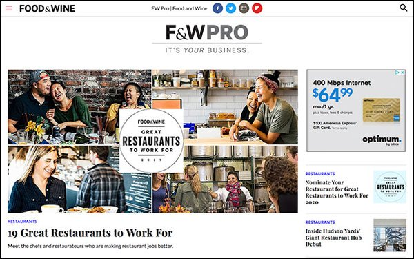 Food & Wine' Debuts 'F&W Pro,' Focuses On Food Business News 03/19/2019