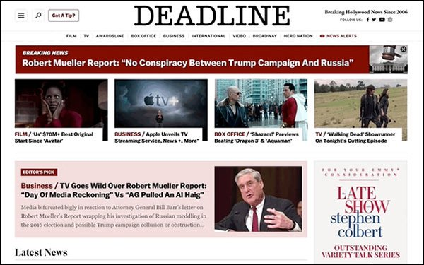 'Deadline' Redesigns Site, Adds Content