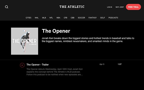 The Athletic' Launches 20 Podcasts Exclusive To Subscribers