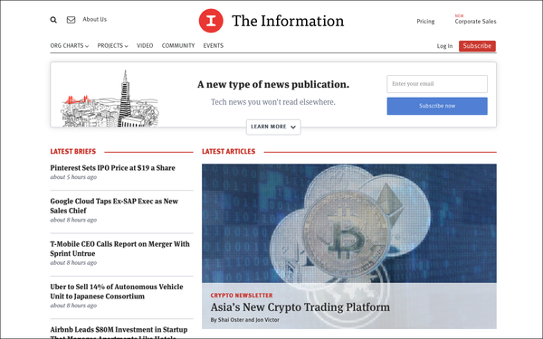 Subscription-Based 'The Information' May Test Ads In Newsletters 04