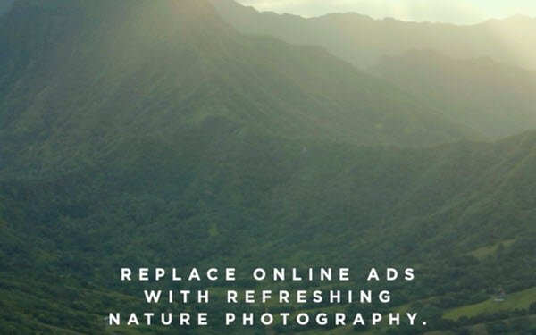 Michelob Ultra Pure Gold Offers Nature-Themed Ad Blocker