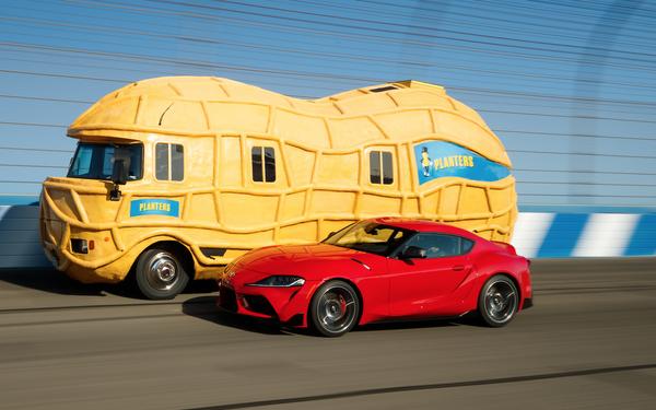 Toyota Supra, Mr. Peanut Engage In Epic Race