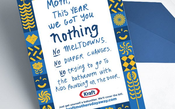 Kraft To Pay For Mother's Day Babysitter Bills 05/07/2019