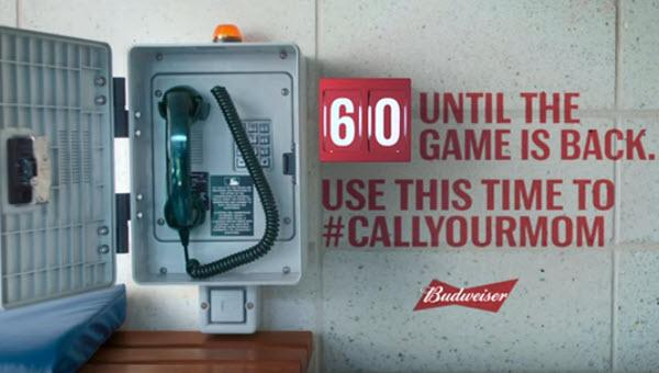 Bud Uses Minute Of MLB Ad Time As Timeout To 'Call Your Mom