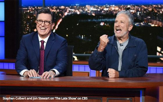 Colbert, Stewart Try Name-Calling To Get Senator's Attention