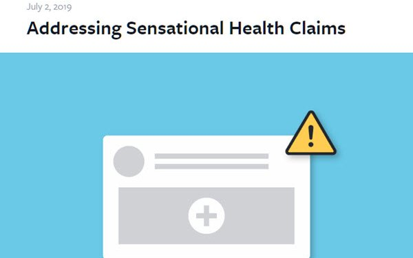 Facebook, YouTube Crack Down On Deceptive Medical Claims 07/03/2019