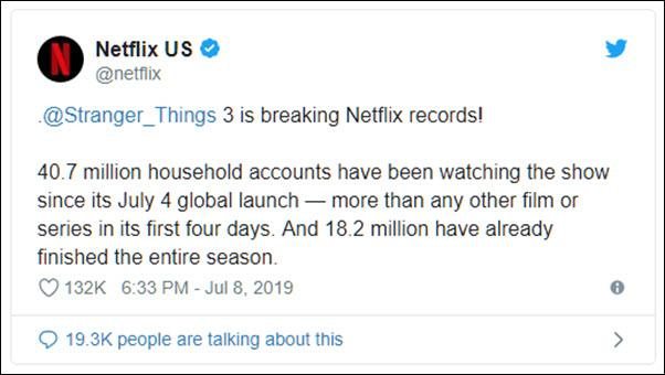 Stranger Things' Pulls Record Views, Netflix #1 With
