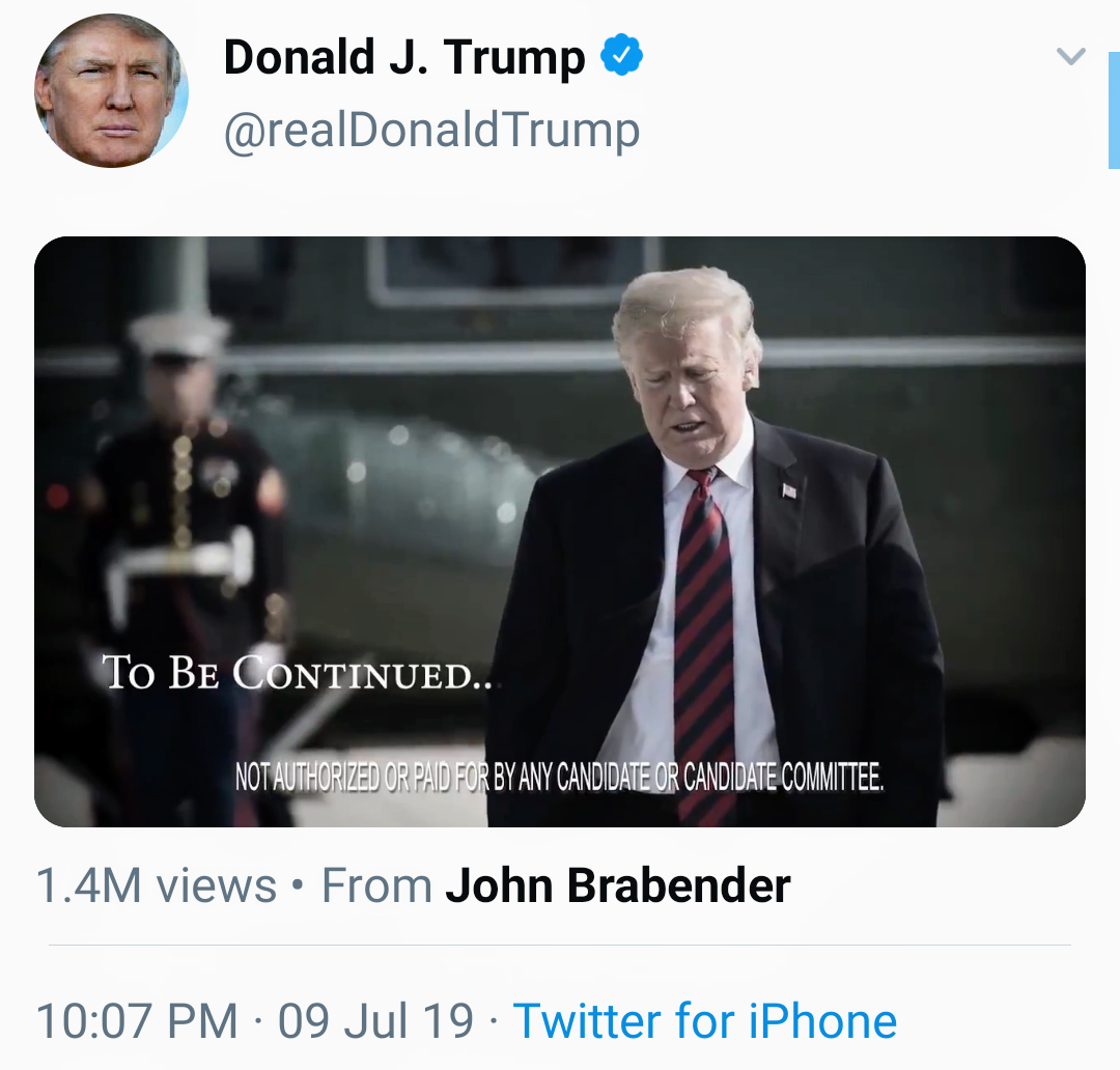 When A President Hatches A Third-Party's Campaign Ad On Twitter