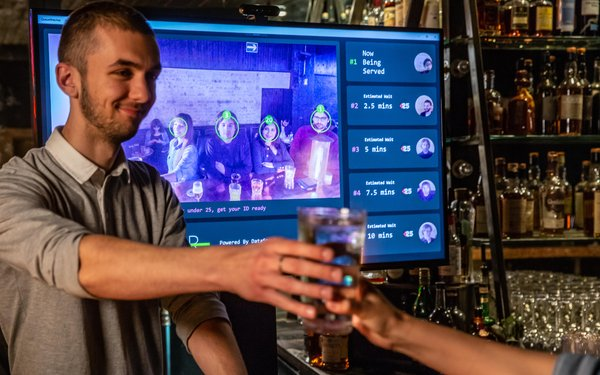 World's first facial recognition bar opens in United Kingdom to end queue-jumping