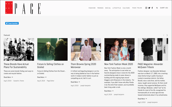 New Fashion Magazine Page Touts Fashion Designers Sustainability 08 12 2019