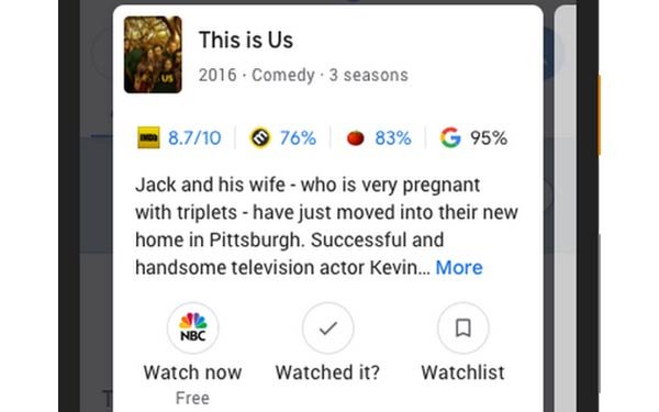 Google Now Recommends TV Shows, Movies Based On Data You