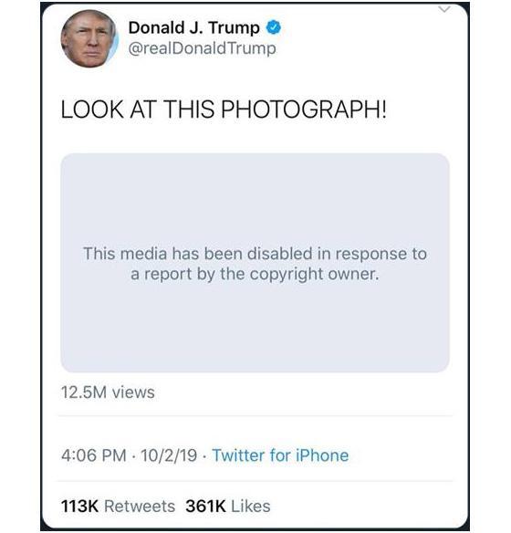Twitter Removes Trump S Nickelback Meme 10 04 2019