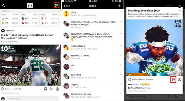 'Bleacher Report' Adds Direct-Messaging Feature In App