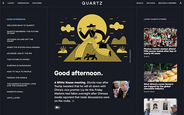 'Quartz' Updates Homepage, Invests In Member-Exclusive Offerings