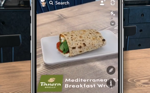 New Panera AR Ad Unit Lets Customers 'Play With' Their Food