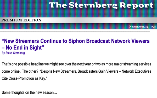 """""""New Streamers Continue To Siphon Broadcast Network Viewers, No End in Sight"""""""