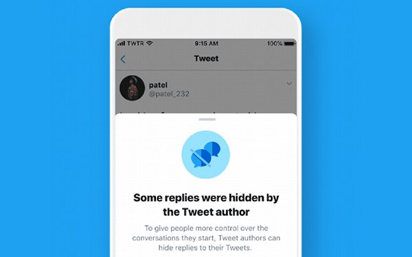 Image result for twitter hide replies""