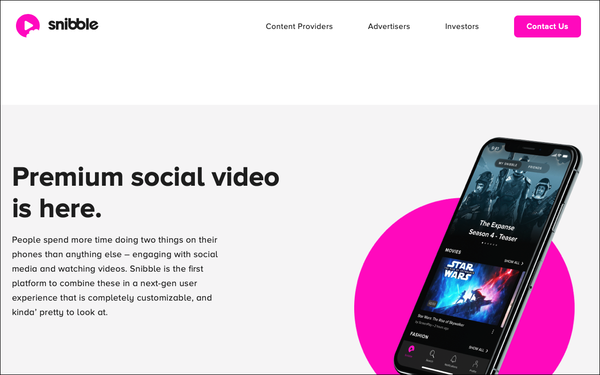 Social-Video Platform Snibble Launches Feb 1, Focuses On Enhanced Content-Ad Experience