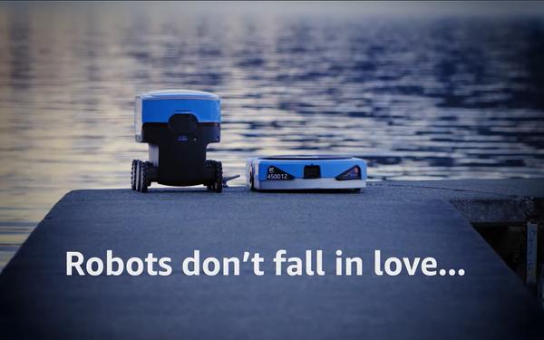 Amazon Celebrates Lovers, Romance Between Robots