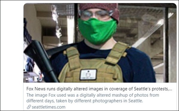 Fox News Site Removes Digitally Altered Protest Photos After Newspaper's Inquiry 06/15/2020