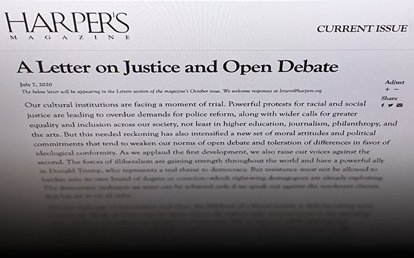 More Than 150 Journalists, Academics Speak Out Against 'Harper's' Letter On  'Cancel Culture' 07/13/2020