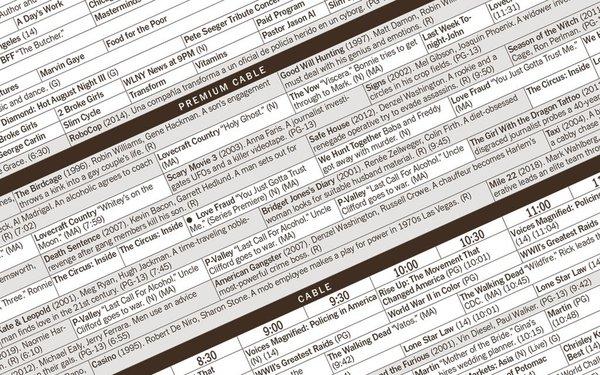 New York Times Stops Printing Tv Listings 09 01 2020