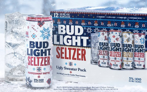 Bud Light Seltzer's Ugly Sweater 12-Pack Gives Holidays Some New Flavors