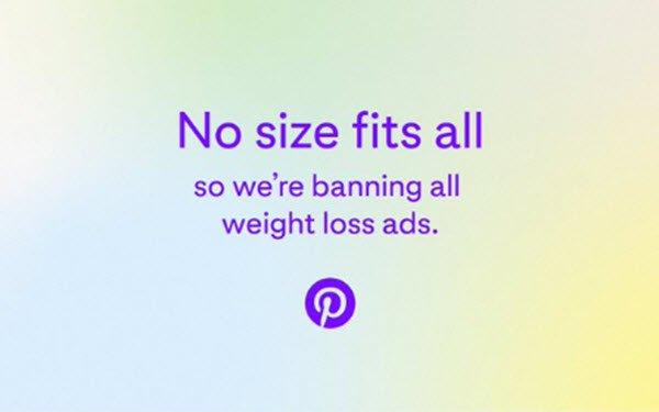 Pinterest Bans Weight-Loss Ads 07/02/2021