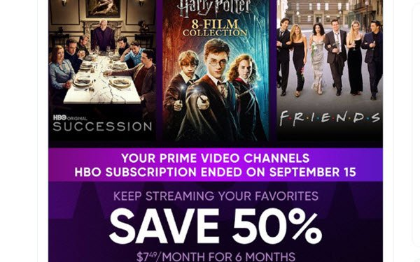 HBO Max Promo Halves Sub Price To Offset Losses From Amazon Prime Dropout