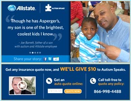 Allstate Quote Online Mesmerizing Allstate Donates To 'autism Speaks' 12062011
