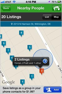 WhitePages com iOS App Lets You Discover Your Own Neighbors