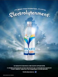 Nestle Waters' Resource Promises 'Electrolytenment'