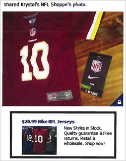 half off a9951 b31ae Facebook Sued Over Ads For Fake NFL Jerseys 10/25/2012