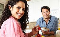 Hispanic-Couple-Eating