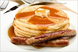 Breakfastpancakessausage