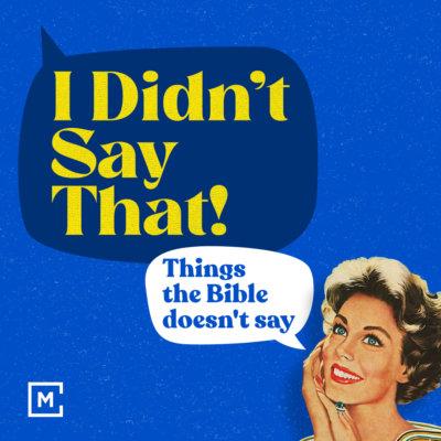 I Didn't Say That