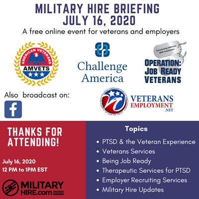 Military Hire July 16, 2020 Briefing