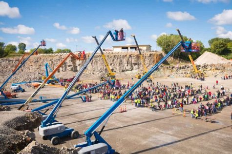 Boom lifts at Quarry Quest
